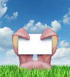 Easter Bunny Sign Royalty Free Stock Photography