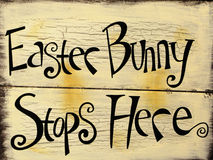 Easter Bunny sign Royalty Free Stock Photos