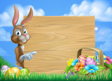 Easter Bunny Sign Background Stock Photography