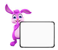 Easter Bunny with sign board Royalty Free Stock Photography
