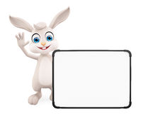 Easter Bunny with sign board Stock Photos