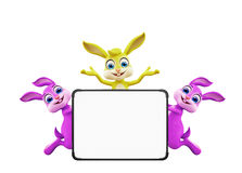 Easter Bunny with sign board Stock Photography