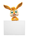 Easter Bunny with sign board Royalty Free Stock Image