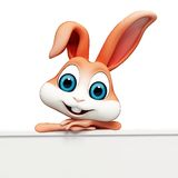 Easter bunny with Sign Stock Photos