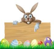 Easter bunny sign Stock Photos