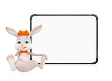 Easter Bunny with signboard Stock Photos