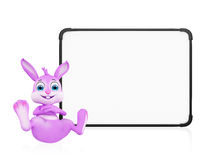 Easter Bunny with signboard Royalty Free Stock Image