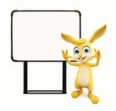 Easter Bunny with signboard Stock Photography