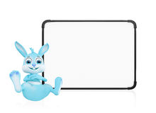 Easter Bunny with signboard Stock Image