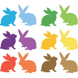 Easter Bunny Silhouette collections Stock Image