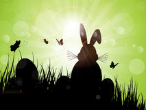 Easter bunny silhouette Royalty Free Stock Photography