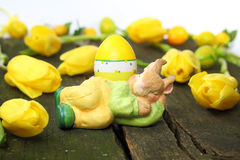 Easter bunny sleeps, time-out Royalty Free Stock Photo