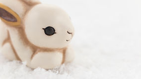 Easter bunny in the snow Royalty Free Stock Photos