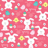 Easter bunny spring pattern vector Royalty Free Stock Photography