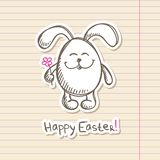 Easter bunny sticker Royalty Free Stock Photo
