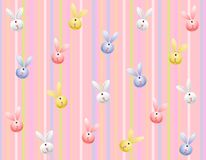 Easter Bunny Striped Background Stock Photo