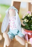 Easter bunny stuffed toy. Cute plush rabbit Royalty Free Stock Photography