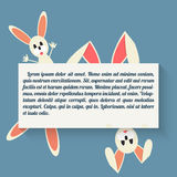 Easter bunny in style flat. Vector illustration of Easter bunny in style flat Royalty Free Stock Photography