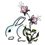 Easter Bunny Stylized Icon Stock Image