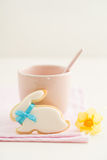 Easter bunny sugar cookie Stock Photo