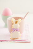 Easter bunny sugar cookie Royalty Free Stock Image