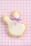 Easter bunny sugar cookie Royalty Free Stock Images