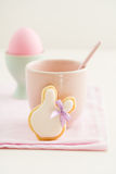 Easter bunny sugar cookie Stock Photography