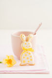 Easter bunny sugar cookie Royalty Free Stock Photography