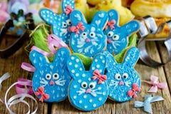 Easter bunny sugar cookies stock photos