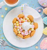 Easter bunny sweet dessert for children on holiday Stock Photography