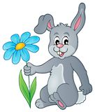 Easter bunny thematic image 1. Eps10 vector illustration Stock Image