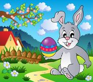 Easter bunny theme image 4. Vector illustration Stock Photo
