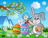 Easter bunny theme image 8. Eps10 vector illustration Royalty Free Stock Images