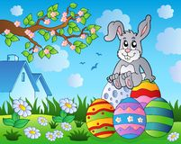 Easter bunny theme image 9. Eps10 vector illustration Royalty Free Stock Photo