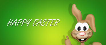 Easter bunny thumbs up. Graphic illustration design Royalty Free Stock Photography