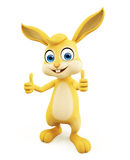 Easter Bunny with thumbs up pose. 3d illustration of Easter Bunny with thumbs up pose Royalty Free Stock Photography