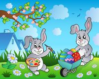 Easter bunny topic image 2 Royalty Free Stock Photo