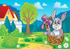 Easter bunny topic image 4 Royalty Free Stock Images