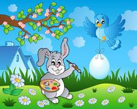 Easter bunny topic image 7 Stock Images