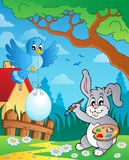 Easter bunny topic image 8 Royalty Free Stock Photos