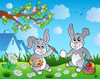 Easter bunny topic image 1 Royalty Free Stock Image