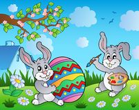 Easter bunny topic image 3. Eps10 vector illustration Stock Photo