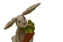 Burlap Easter Bunny Stock Photography
