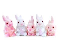 Easter bunny toys Stock Photography