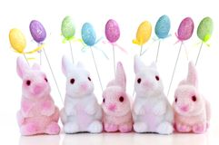 Easter bunny toys Stock Image