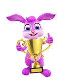 Easter bunny with trophy Royalty Free Stock Photography