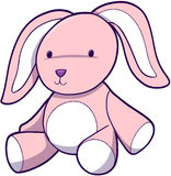 Easter Bunny Vector. Cute Pink Easter Bunny Vector Illustration Royalty Free Stock Image
