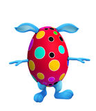 Easter bunny with walking pose Royalty Free Stock Images