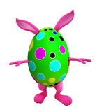 Easter bunny with walking pose Stock Photo