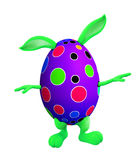 Easter bunny with walking pose Royalty Free Stock Photos